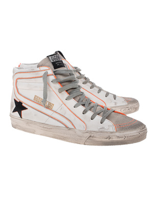 GOLDEN GOOSE DELUXE BRAND Slide Star Orange Off-White