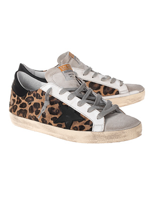 GOLDEN GOOSE DELUXE BRAND Superstar Leopard Brown