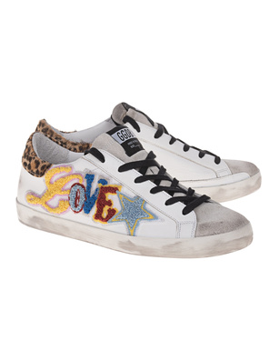 GOLDEN GOOSE DELUXE BRAND Superstar Love White