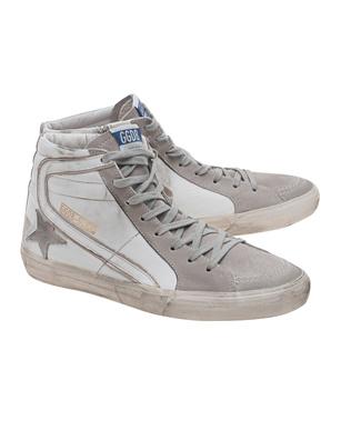 GOLDEN GOOSE DELUXE BRAND Slide White Leather
