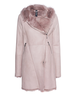 GIORGIO BRATO Lamb Fur Hood Rose