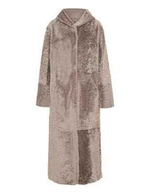 GIORGIO BRATO Coat Hood Lamb Grey