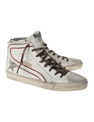 GOLDEN GOOSE DELUXE BRAND Slide Classic Wave White