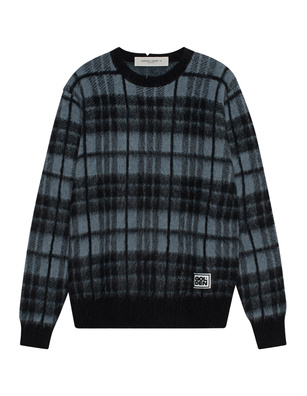 GOLDEN GOOSE DELUXE BRAND Mohair Checked Blue
