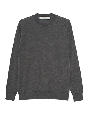 GOLDEN GOOSE DELUXE BRAND Knit Basic Destroyed Grey