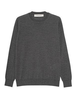 GOLDEN GOOSE DELUXE BRAND Knit Basic Destroyed Grey