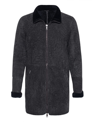 GIORGIO BRATO Shearling Dark Eagle Wash Anthracite