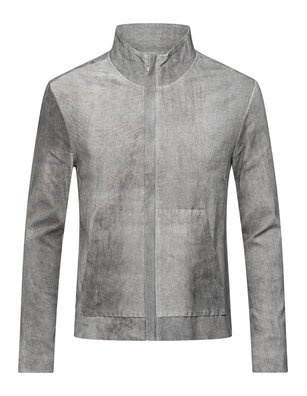 GIORGIO BRATO Stretch Leather Washed Out Grey