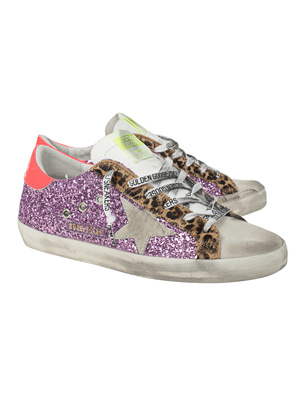 GOLDEN GOOSE DELUXE BRAND Superstar Classic Glitter Lilac