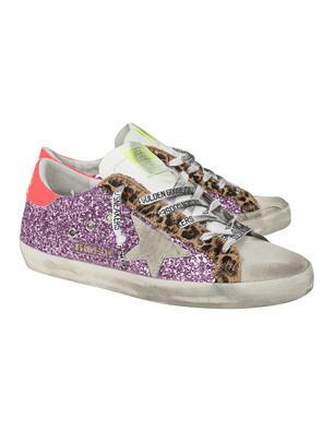 GOLDEN GOOSE DELUXE BRAND Superstar Classic Glitter Lilac