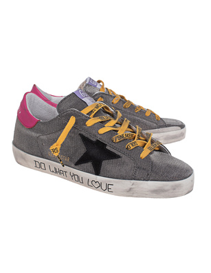GOLDEN GOOSE DELUXE BRAND Superstar Checkered Suede Grey