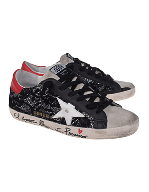 GOLDEN GOOSE DELUXE BRAND Superstar Glitter Black