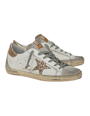 GOLDEN GOOSE DELUXE BRAND Super Star Glitter Gold