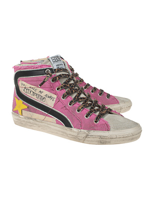 GOLDEN GOOSE DELUXE BRAND Slide Canvas Quarter Pink