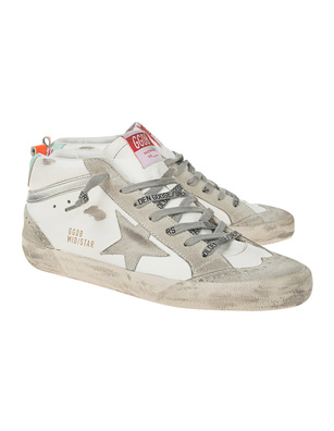 GOLDEN GOOSE DELUXE BRAND Mid Star White Ice Turquoise