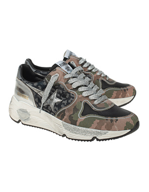 GOLDEN GOOSE DELUXE BRAND Running Sole Camouflage Silver