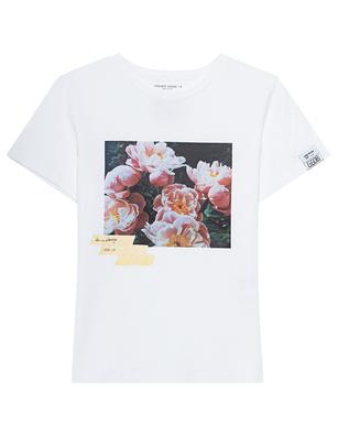 GOLDEN GOOSE DELUXE BRAND Ania Regular Flowers White