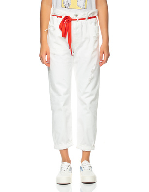 DENIMIST Harper Shoelace Jean White