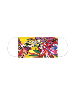 JADICTED Face Mask Silk Hibiskus Multicolor