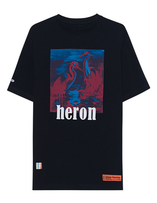 HERON PRESTON Herons Redblue Print Black