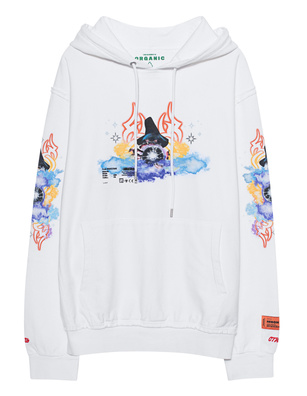 HERON PRESTON Tribal Wizard Hood Off-White