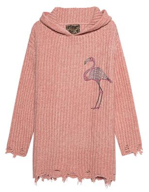 CAMOUFLAGE COUTURE STORK Flamingo Rhinestone Rose