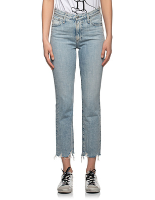 AG Jeans Isabelle High Rise Straight Crop Light Blue