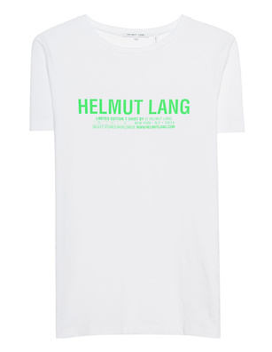 HELMUT LANG Green Logo Limited White