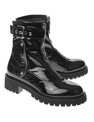 GIUSEPPE ZANOTTI Patent Claude Combat Boots Black