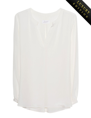 JADICTED Box Pleat Heavy Silk Off White