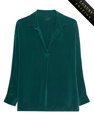 JADICTED Classy Heavy Silk Dark Green