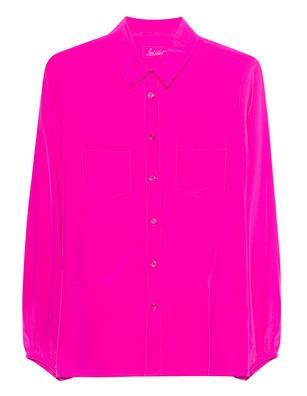 JADICTED Balloon Sleeve Silk Pink
