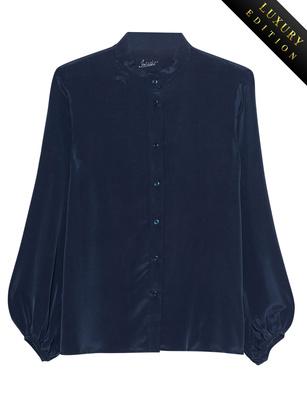 JADICTED Heavy Silk Blouse Purple Blue