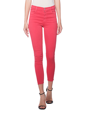 J BRAND Alana High Rise Cropped Skinny Red