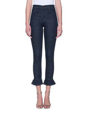 J BRAND Ruby Hgh Rise Crop Maude Blue