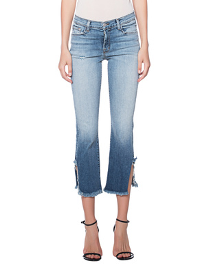 J BRAND Selena Mid Rise Crop Bootcut Blue