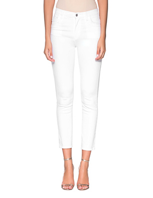 J BRAND  Ruby High Rise Crop Cigarette White
