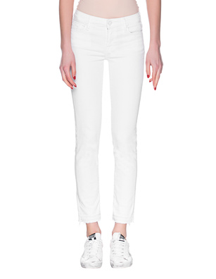 7 FOR ALL MANKIND Pyper Crop Slim Illusion White