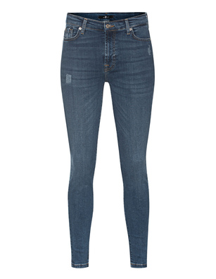 7 FOR ALL MANKIND Skinny Crop Slim Illusion Dark Blue