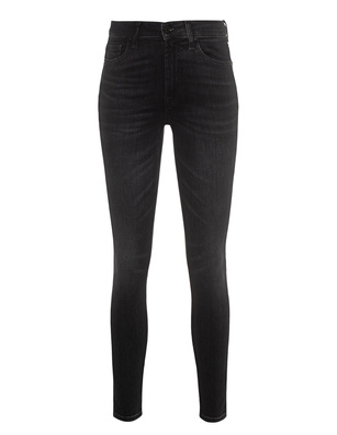 7 FOR ALL MANKIND High Waist Skinny Crop Anthracite