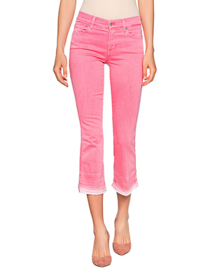 7 FOR ALL MANKIND Crop Boot Unrolled Pink