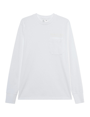 HELMUT LANG Rubber Logo Pocket Chalk White