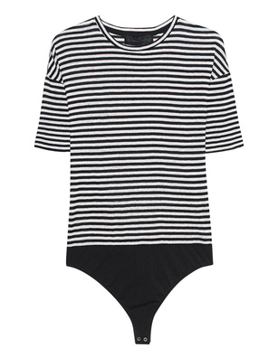 Kendall + Kylie Stripe Body Black White