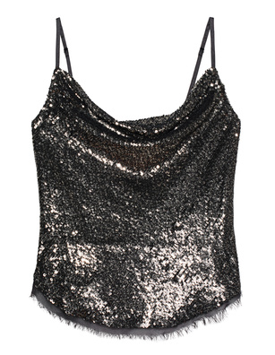Kendall + Kylie Sequin Cami Black