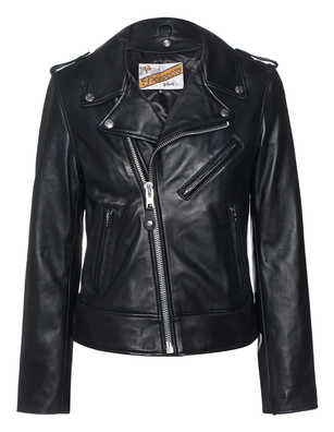 Schott NYC Leather Biker Black