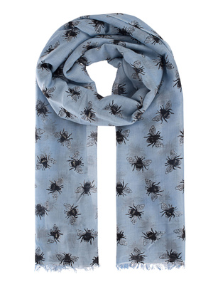 ALBEROTANZA Light Pashmina Bee Blue