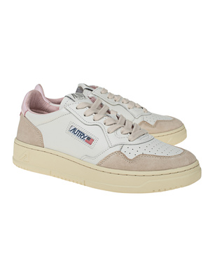 Autry Low Suede White Pink