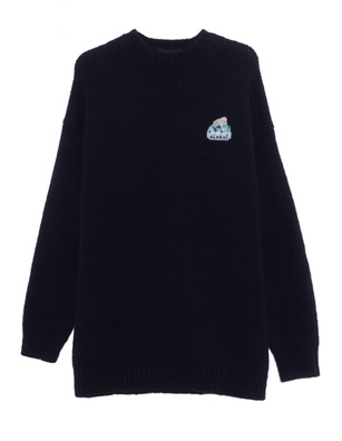 ALANUI Oversize Global Warming Navy
