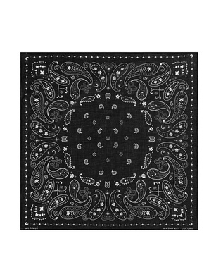 ALANUI Printed Cotton Bandana Black