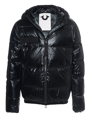 TRUE RELIGION Hooded Down Outdoor Black